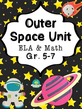 Out of This World Outer Space Writing and Math Worksheet P