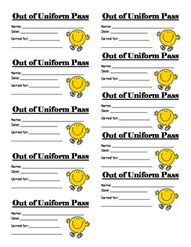 Out of Uniform Pass