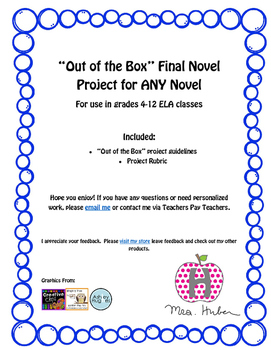 Out of the Box Final Novel Project