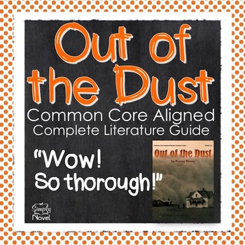 Out of the Dust 173 Page Complete Unit - Lessons, Question