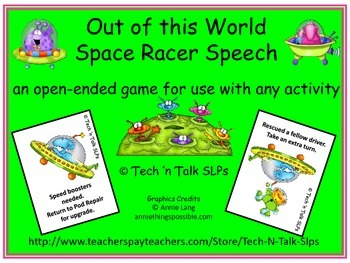 Out of this World Space Racer Speech
