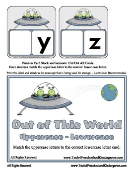 Out of this World Upper - Lower Case Matching - Alphabet