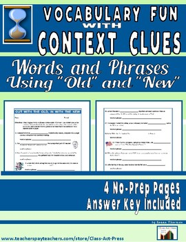 Vocabulary Fun with Context Clues (4 Pages, Answer Key Inc