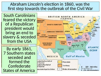 Outbreak of Civil War PowerPoint for Use with Slotted Note