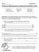 Outdoor Math-Measurement Worksheets