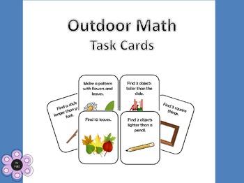 Outdoor Math Task Cards