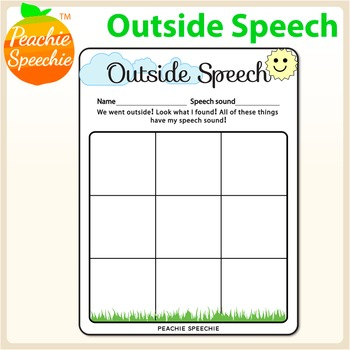 Outdoor Speech Therapy Worksheet