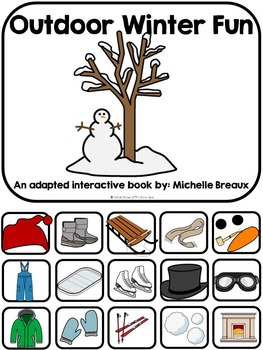 Outdoor Winter Fun- Adapted Book {Autism, Early Childhood,