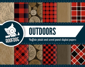 Outdoors lumberjack buffalo plaid pattern red and black di