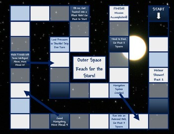Outer Space Game Board Template