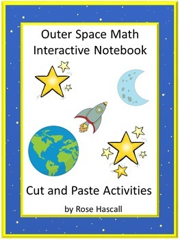 Interactive Notebook Space Themed Cut and Paste