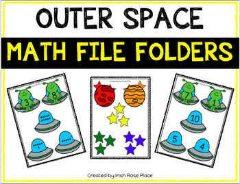 Outer Space Math File Folders