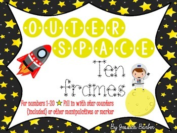 Outer Space Ten Frames- 1-20