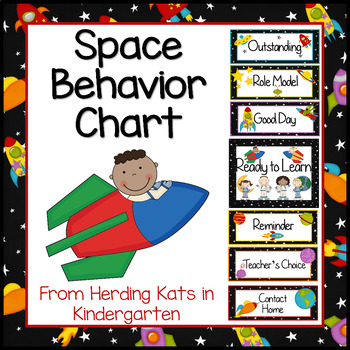 Outer Space Themed Behavior Clip Chart