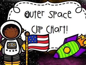 Outer Space Themed Clip Chart
