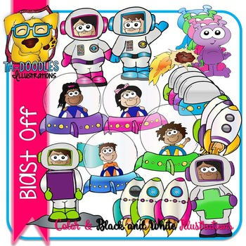 Outerspace Kids Commercial Use Clipart