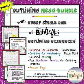 Outlining MEGABUNDLE:  PowerPoints, Activities, Informatio