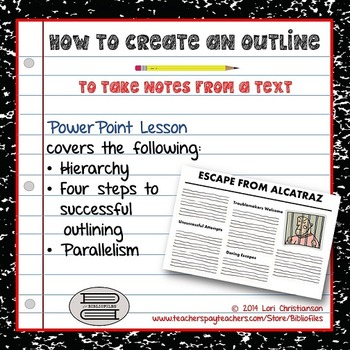 Outlining for Notetaking:  PowerPoint Lesson