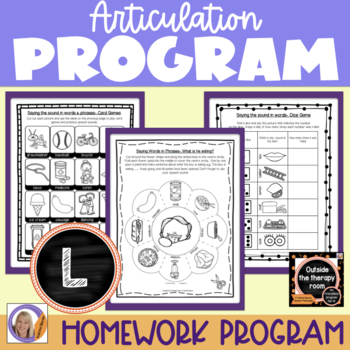 Articulation Program: /l/ Outside the Therapy Room