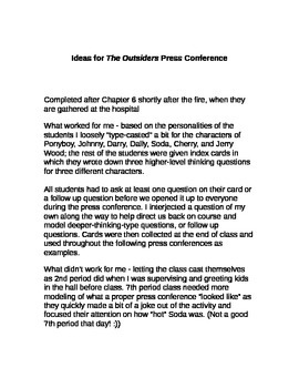 Outsiders Press Conference - Good Idea File