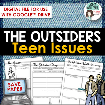 Outsiders - Teen Issues Then and Now - Google /OneDrive Version