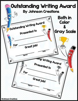 Outstanding Writing Award