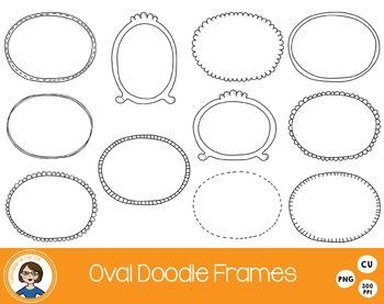 Oval Doodle Frames Clipart