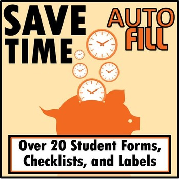 Over 20 Editable Checklists, Forms, & Labels-  AUTO FILLED