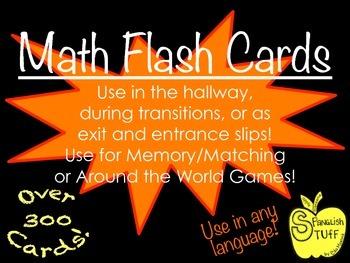 Over 300 Pre-K/K MATH Flash CARDS!!!