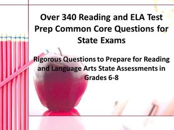 340 Middle School Reading-ELA Test Prep Common Core Questi