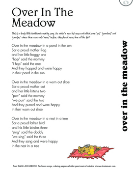 Over In The Meadow - An Inclusive Counting Song - Free Lyr