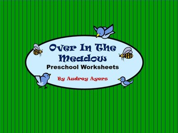 Over In The Meadow Preschool Worksheets, Counting, Colors,