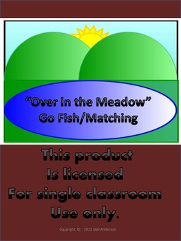 """""""Over in the Meadow"""" Go Fish and Matching Game"""