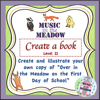 Over in the Meadow on the First Day of School Blank Book,