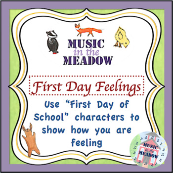 Over in the Meadow on the First Day of School Feelings Worksheet