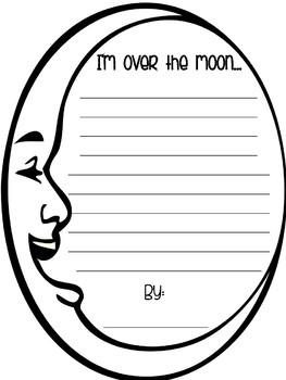 Over the Moon Writing Craft Template FREEBIE
