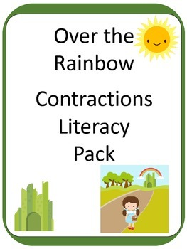 Wizard of Oz inspired Contraction ELA Literacy CENTER GAMES