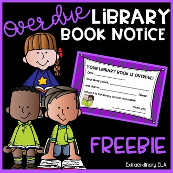 Overdue Library Book Note FREEBIE