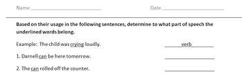 Overlapping Parts of Speech II