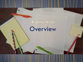Overview of the Rightly Write School