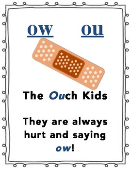 Ow & Ou poster and activities