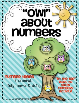 """""""Owl"""" About Number Trees {Numeral, Dot and Tally Marks} """"L"""
