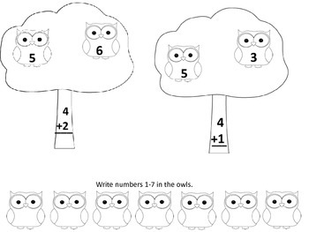 Owl Addition and Subtraction with Counting