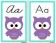 Owl Alphabet Wall Cards Manuscript & Cursive - Turquoise B
