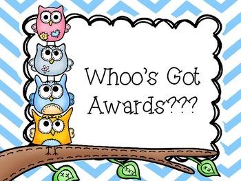 Owl Award Pack