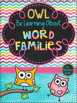 """""""Owl"""" Be Learning About Word Families {A Word Families Booklet}"""