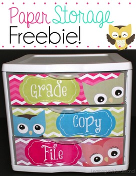 Owl Be Organized Freebie - Owl Themed To Do Drawers