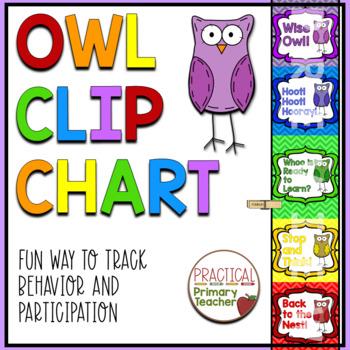 Owl Behavior Chart - Chevron Background - 2016-2017 Calend