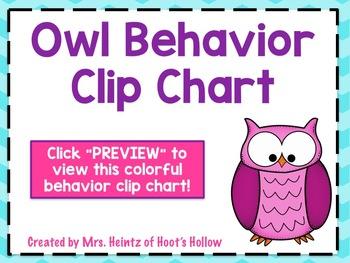 Owl Behavior Chevron Clip Chart