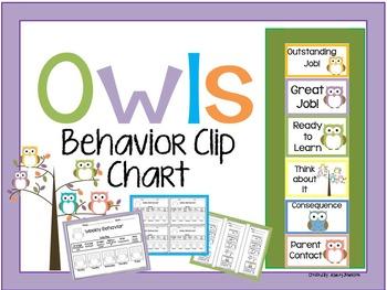 Behavior Owl Behavior Clip Chart